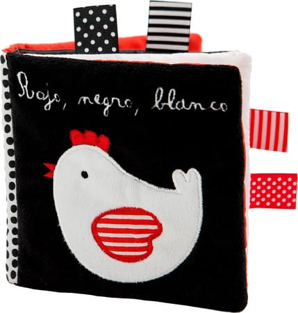 """Libro de tela """"Rojo, Negro, Blanco"""", de Combel"""
