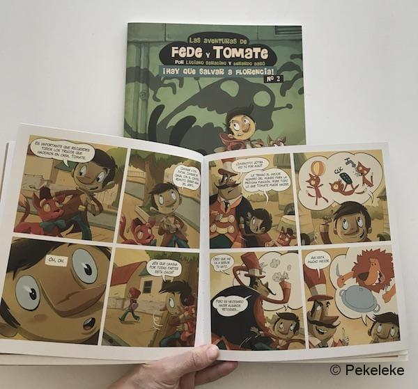 Cómics Las Aventuras de Fede y Tomate, de Dibbuks
