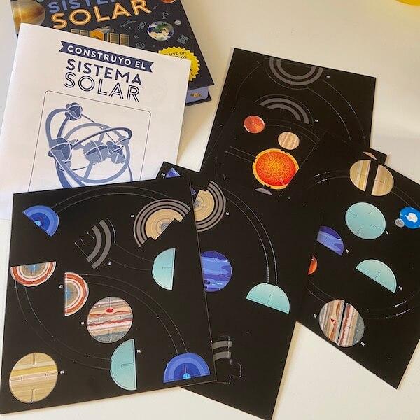 Construyo el sistema solar, Larousse (maqueta montaje)