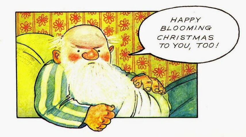 Happy blooming Christmas! Raymond Briggs
